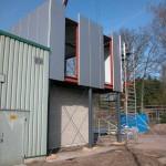 Dak- en wandbeplating uitbreiding kantoor te Putte (12)