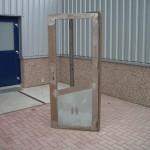 Stalen deur met glassparing